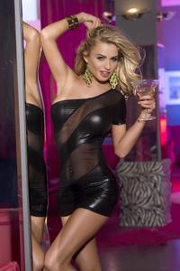 Клубное платье Candy Girl с открытым плечом, черное, XL