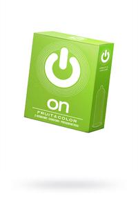 Презервативы ''ON)'' Fruit & Color №3 - цветные/ароматизированные (ширина 54mm)