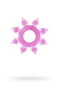 Эрекционное кольцо на пенис TOYFA, TPE, розовый