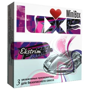 Презервативы Luxe Mini Box Экстрим, ребристые, 24 шт.