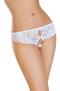 Эротические трусики Erolanta Lingerie Collection, кружевные, белые (46-48)