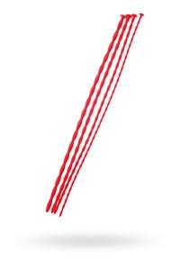 Набор уретральных зондов TOYFA Black&Red, 4 штуки, красный