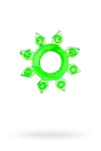 Эрекционное кольцо на пенис TOYFA, TPE, зеленый