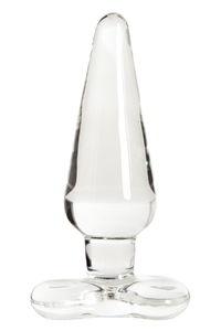 Анальная втулка Sexus Glass, Стекло, Прозрачный, 11,5 см