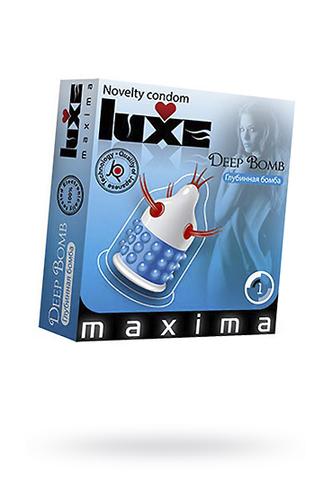 Презервативы Luxe Maxima Глубинная бомба №1