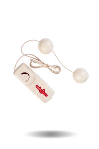 Вагинальные шарики Dream Toys с вибрацией, белые, ?3,5 см