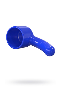 Насадка  для массажера Magic Wand, изогнутая, Hitachi,TPR, синий, 16 см