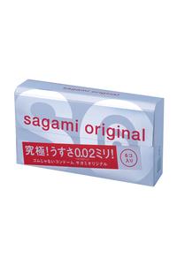 Презервативы Sagami Original 0.02  УЛЬТРАТОНКИЕ,гладкие №6