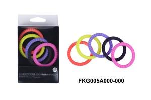 Эрекционные кольца NMC Erection Commander, силиконовые, цветные, диаметр 3,7 см, 5 шт.