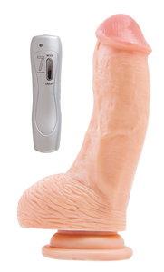 Вибратор RealStick #107 телесный, 7 режимов вибрации, 15 см