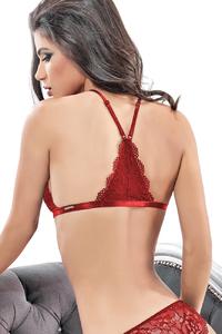 Бралетт Norddiva, кружевной, с застежкой спереди, рубиновый, 75B