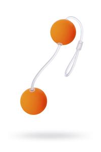 Вагинальные шарики Sexus Funny Five, ABS пластик, Оранжевый, ? 3 см