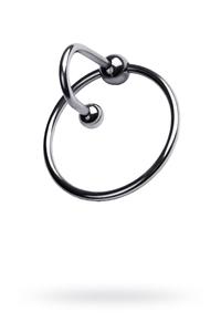 Кольцо на пенис TOYFA Metal с уретральным стоппером, серебристое, ?4см