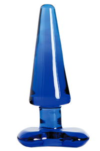 Анальная втулка Sexus Glass, Стекло, Синий, 10 см