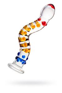 Нереалистичный фаллоимитатор Sexus Glass, Стекло, Прозрачный, 21 см