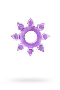 Эрекционное кольцо на пенис TOYFA, TPE, фиолетовый
