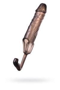 Насадка ToyFa XLover, для увеличения размера с дополнительной стимуляцией,TPE, черная прозрачная, 16,2 см