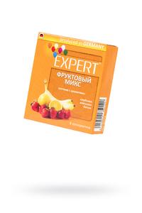 Презервативы Expert ''Фруктовый микс'' №3, цветные с ароматами: клубники, апельсина, банана, 3шт