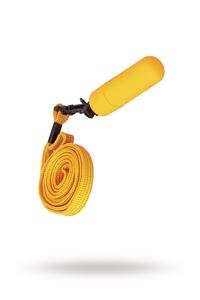Вибропуля Sexus Funny Five с ремешком, ABS пластик, Желтый, 6,3 см