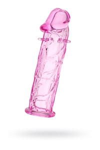 Насадка TOYFA, TPE, розовый, 12, 5 см