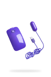 Виброяйцо NMC с пультом управления, супермощное, 10 режимов вибрации, фиолетовое, 5 см