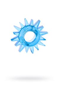 Эрекционное кольцо TOYFA, TPE, синий