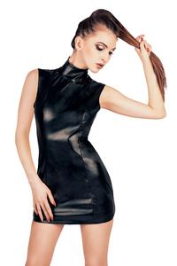 Платье MENSDREAMS, БДСМ, экокожа, черный, OS