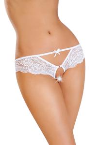 Эротические трусики Erolanta Lingerie Collection, кружевные, белые (42-44)