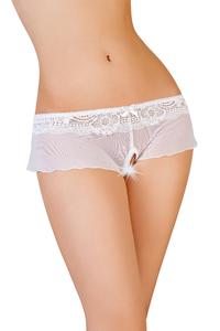 Эротические трусики-юбочка Erolanta Lingerie Collection из стрейч-сетки, белые (50-52)