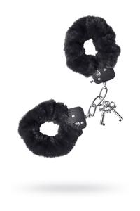Наручники TOYFA Theatre,меховые черные