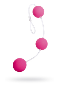 Анальные шарики Sexus Funny Five, ABS пластик, розовые, 19,5 см