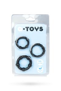 Набор колец TOYFA A-toys, TPE, Черные, ? 3,5/3/2 см