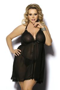 Ночная сорочка Angels Never Sin Adola, черная, XL