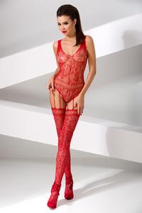 Костюм-сетка Passion Erotic Line, красный, OS