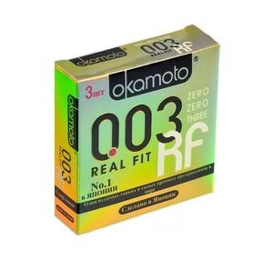 Презервативы Окамото 003 Real Fit №3  Супер тонкие особой облегающей формы -ШТ